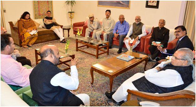 Delegation from Kishtwar meets Guv at Raj Bhavan Jmu