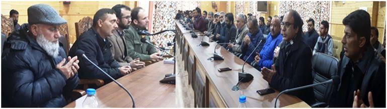 Distt Admin Bandipora condoles with Dr Shahid Iqbal