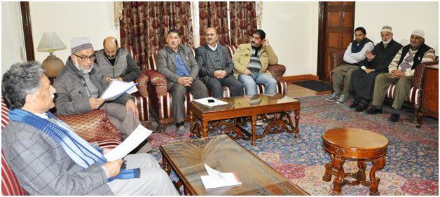 KCCI delegation calls on Advisor (G) in Srinagar