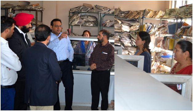 Saurabh Bhagat inspects progress of digitization of PF records
