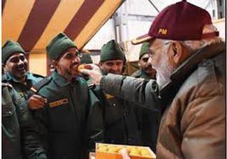 PM Modi celebrates Diwali with soldiers near India-China border